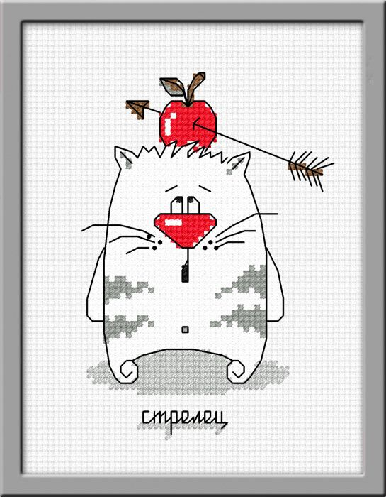 Схема вышивки кошачий гороскоп на