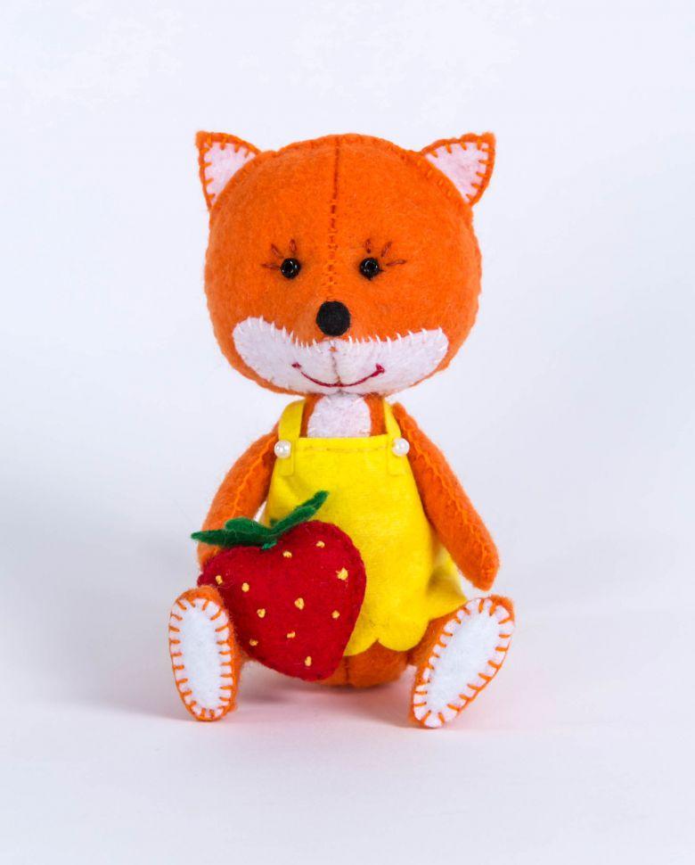 """Лисичка Картинки Набор для изготовления текстильной игрушки Перловка """"Лисичка"""" ПФД"""